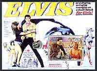 Somalia 2004 Elvis Presley #2 perf m/sheet (film poster in background), fine cto used