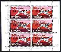 Stroma 1969 Dogs 5d (Dalmation) complete perf sheetlet of 6 with 'Europa 1969' opt unmounted mint