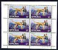 Stroma 1969 Dogs 2s (Labrador) complete perf sheetlet of 6 with 'Europa 1969' opt unmounted mint