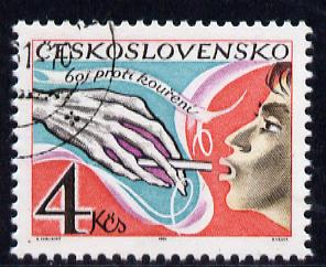 Czechoslovakia 1981 Anti Smoking Campaign fine cds used, SG 2598