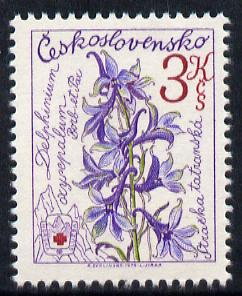 Czechoslovakia 1979 Delphinium 3k perf 11.5 (from Mountain Rescue set) unmounted mint SG 2459