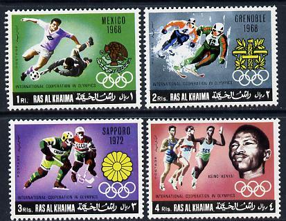 Ras Al Khaima 1969 Olympic Co-operation set of 4 unmounted mint (Mi 312-15A)