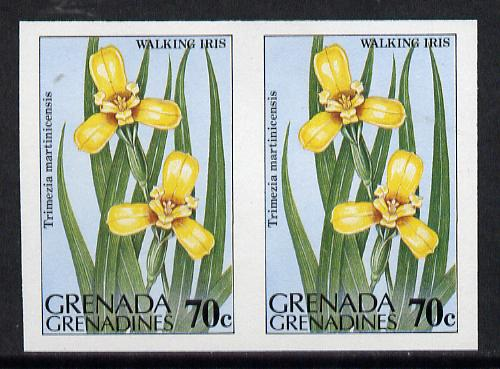Grenada - Grenadines 1984 Flowers 70c (Walking Iris) unmounted mint imperf pair (as SG 585)