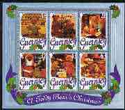 Guernsey 1997 Christmas - Teddy Bears perf m/sheet containing set of 6 values unmounted mint, SG MS 753