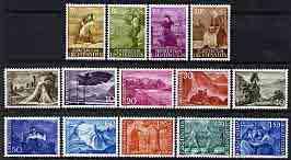 Liechtenstein 1959-64 definitive set of 14 complete unmounted mint, SG 379-91