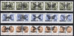 Chuvashia Republic - Butterflies opt set of 15 values each design opt'd on pair of Russian defs (Total 30 stamps) unmounted mint