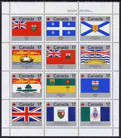 Canada 1979 Canada Day - Flags perf m/sheet containing set of 12 values unmounted mint, SG MS944
