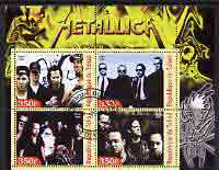 Chad 2003 Legendary Pop Groups - Metallica perf sheetlet containing 4 values fine cto used