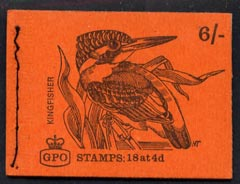 Booklet - Great Britain 1968-70 Birds - Kingfisher (red cover June 1968) 6s booklet complete and fine, SG QP38