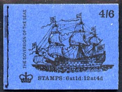 Booklet - Great Britain 1968-70 Ships - Sovereign of the Seas 4s6d booklet (Oct 1970) complete and fine SG LP59