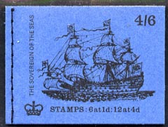 Booklet - Great Britain 1968-70 Ships - Sovereign of the Seas 4s6d booklet (Aug 1970) complete and fine SG LP58