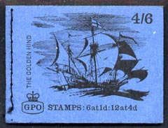 Booklet - Great Britain 1968-70 Ships - Golden Hind 4s6d booklet (Sept 1968) complete and fine SG LP47
