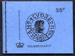 Booklet - Great Britain 1973-74 British Coins #1 - Cuthred's Penny 35p booklet (Autumn 1973) complete and fine, SG DP1
