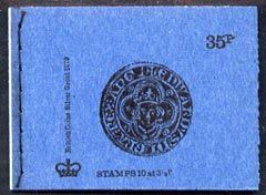 Booklet - Great Britain 1973-74 British Coins #2 - Silver Groat 35p booklet (June 1974) complete and fine, SG DP3