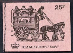 Booklet - Great Britain 1971-73 Veteran Transport #1 - Knife-board Omnibus 25p booklet (Feb 1971) complete and fine, SG DH39