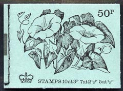 Booklet - Great Britain 1971-72 British Flowers #1 - Bindweed 50p booklet (Feb 1971) complete and fine, SG DT1