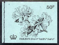 Booklet - Great Britain 1971-72 British Flowers #3 - Honeysuckle 50p booklet (Aug 1971) complete and fine, SG DT3