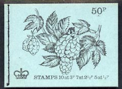 Booklet - Great Britain 1971-72 British Flowers #4 - Hop 50p booklet (Nov 1971) complete and fine, SG DT4