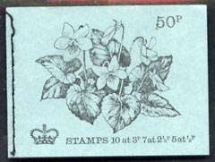 Booklet - Great Britain 1971-72 British Flowers #5 - Common Violet 50p booklet (Feb 1972) complete and fine, SG DT5