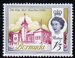 Bermuda 1962-68 City Hall 1s3d (from def set) unmounted mint, SG 172