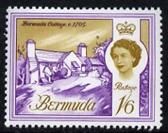 Bermuda 1962-68 Cottage of 1705 1s6d (from def set) unmounted mint, SG 173
