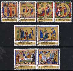 Ajman 1970 Easter (Paintings) perf set of 8 cto used, Mi 506-13 (set in sheets of 6 available price x 5)
