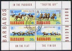 Barbados 1969 Horse Racing perf m/sheet cds used, SG MS 385