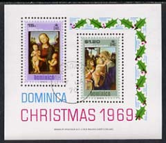 Dominica 1969 Christmas Paintings imperf m/sheet cds used, SG MS295