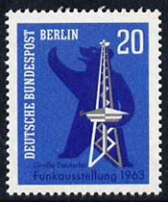 Germany - West Berlin 1963 Broadcasting Exhibition 20pf unmounted mint, SG B226