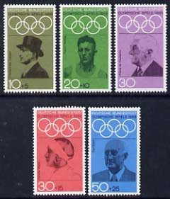 Germany - West 1968 Olympic Games (1972) Promotion Fund (1st series) set of 5 unmounted mint, SG 1463-67