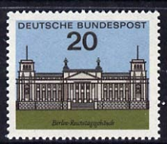 Germany - West 1964 Berlin Reichstag 20pf unmounted mint, from Capitals of the Federal Lands set of 12, SG 1335