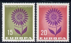 Germany - West 1964 Europa set of 2 unmounted mint, SG 1350-51