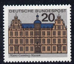 Germany - West 1964 Gutenberg Museum Mainz 20pf unmounted mint, from Capitals of the Federal Lands set of 12, SG 1336