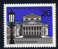 Germany - West 1964 National Theatre Munich 20pf unmounted mint, from Capitals of the Federal Lands set of 12, SG 1333