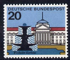 Germany - West 1964  Kurhaus Wiesbaden 20pf unmounted mint, from Capitals of the Federal Lands set of 12, SG 1334
