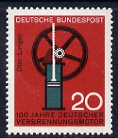 Germany - West 1964 Gas Engine 20pf unmounted mint, from Scientific Anniversaries (1st series) set of 3,  SG 1347