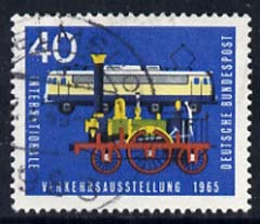 Germany - West 1965 Locomotive 'Adler' & Electric Loco 40pf fine used, from Int Transport Ex set of 7, SG 1393