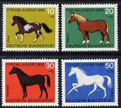 Germany - West Berlin 1969 Child Welfare set of 4 horses unmounted mint, SG B328-331