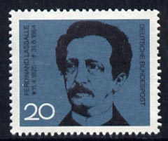 Germany - West 1964 Death Cent of Ferdinand Lassalle (Socialist founder & leader) unmounted mint, SG 1348*