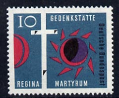 Germany - West 1963 Consecration of Regina Martyrum Church Berlin 10pf unmounted mint, SG 1311