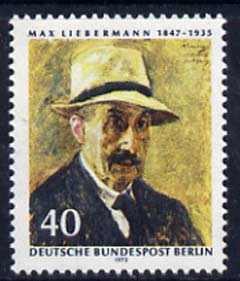 Germany - West 1972 125th Birth Anniversary of Max Liebermann (painter) unmounted mint, SG B422