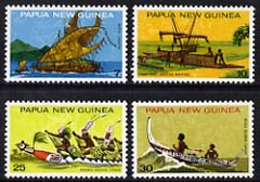 Papua New Guinea 1975 National Heritage-Canoes set of 4 unmounted mint, SG 277-80