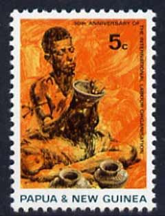 Papua New Guinea 1969 Native Potter 5c unmounted mint, SG 164