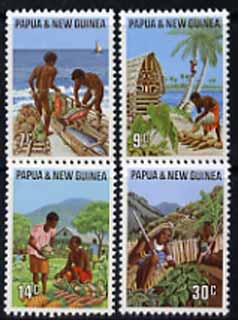 Papua New Guinea 1971 Primary Industries set of 4 unmounted mint, SG 204-07