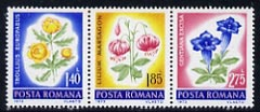 Rumania 1973 the 3 flower values from Protection of Nature set unmounted mint, SG 3982-84