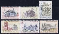 Rumania 1968 Historic Monuments set of 6 unmounted mint, SG 3591-96