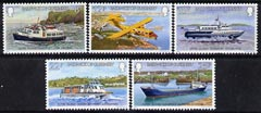 Guernsey 1981 Inter-island Transport set of 5 unmounted mint, SG 240-44