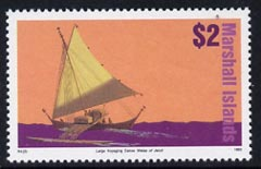 Marshall Islands 1993 Jaluit outrigger canoe $2 unmounted mint SG 510 (from Ships set of 52)