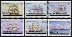 St Kitts 1980 Ships perf set of 6 unmounted mint, SG 42-47
