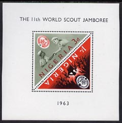 Nigeria 1963 11th World Scout Jamboree m/sheet unmounted mint, SG MS134a